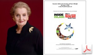 Madelaine Albright Keynote Address at the Premier of Inside Islam